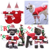 Hunde-Kleidung Hunde-Bekleidung Welpen-Weihnachtskleidung Netter Mantel Hoodie mit Hut Katze warmer Mantel für Small Medium Pet Supplies