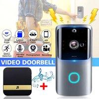 1080P WiFi intelligent Vidéo Sonnette Caméra visuelle Intercom vision nocturne IP Sonnette sans fil Accueil caméra de sécurité avec Chime