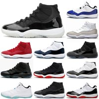 2020 Nike Air Jordan Retro 11 Branco Bred Jumpman 11s Womens Mens tênis de basquete treinadores desportivos Air Sneakers Big Size US 13
