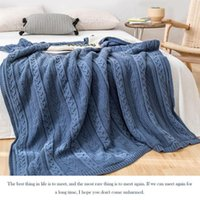 Cobertores Plus Velvet Twisted Knit Lã Cobertor Skin-Friendly Twist Weave Acolhedor Algodão Mão Crochet