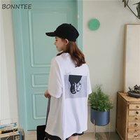 T-shirts femmes manches demi Trendy étudiants en vrac imprimé coréenne femmes Ulzzang All-match de O-Neck Daily T-shirt Chic Vêtement