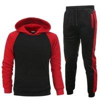 Venta al por mayor de chándales de los hombres Sportsuit Hoodie and Sudadera Hombre Chaqueta Traje de jogging Barco gratis