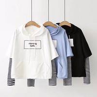Kinder Kleidung Outwear Weiß Mit Kapuze Student Mädchen Mode Warme Baumwolljacken