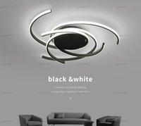 Matter Black Ideal Surface mounted modern led Ceiling Lights for living room Bedroom Aluminum White AC85-265V Ceiling Lamp