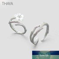 Thaya Blanc Fleur de cerisier Bague en argent S925 Silver Pearl naturelles Direction Shell fleur Bagues de femmes élégantes dames Bijoux Y19051603