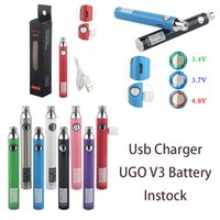 UGO-V3 Vape Pen Battery Preheating Batteries 650mAh 900mAh Adjustable Voltage 510 Thread Carts USB Charger E Cigarettes UGO Battery Instock