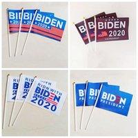 2020 Joe Biden Hand-Flagge Banner Brief Unterstützung Oppose Amerika Präsidentschaftswahl Kampagne mit Polyester-Flagge Banner VT1554