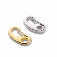 10PCS / lot الذهب / الروديوم اللون جراد البحر قفل خطاف لسلسلة قلادة أساور مجوهرات DIY جعل 21 11MM *