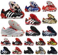 Clásicos Predator 20 + mutador Mania Torturador Acelerador de Electricidad de precisión Champagne 20 + x FG hombres botas botas de fútbol tacos de fútbol