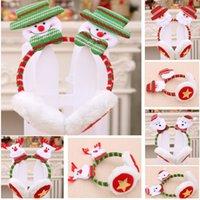 Decoraciones de Navidad auricular de diadema para adultos niños vestido Up Christmas reno principal rojo de la hebilla de la horquilla de regalo orejeras HH9-3266