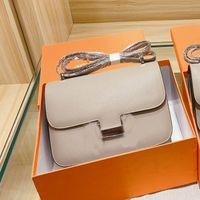 Topkwaliteit Real Lederen Messenger Bag Pakket Handtas Portemonnee Dames Schoudertassen Metalen Lettert Cross Body Bag Flap Gewatteerde Tas 16 Kleuren