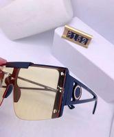 Yeni Moda 8152 Lüks kadınlar Marka Tasarımcı Güneş kutusu Büyük Boy Kare Lüks Güneş Gradyan Mercek Vintage mens