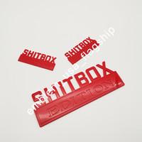KIT لامعة عدة shitbox EDITION شعار ملصقات الشارات سيارة