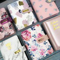 Nunca Original Couro Capa Binder Espiral Notebooks e Jornal A6 Pessoal Agenda Planner Organizer Office Gabin Gift Gift papelaria
