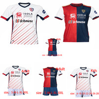 칼리아리 칼초 축구 유니폼 2020 2021 CERRI 주앙 페드로 NAINGGOLAN NANDEZ PAVOLETTI 기념일 HOT 남성 + 어린이 축구 셔츠