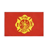 Fabrikpreis Gabe 3 von 5 ft Polyester vereinigten staaten amerikanischen Feuerwehrmann Feuerwehrmann-Flagge