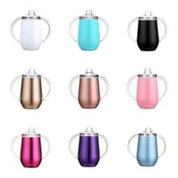 Cheapest! 10oz stainless steel sippy cup Kids tumbler with h...