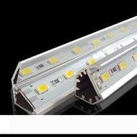 SMD 5730 привело бар свет 12 вольт свет водить 36LEDs 0,5М 72LEDs 1М 144LEDs 2М привело жесткий полоску с V-образный алюминиевый канал Теплый Холодный Pure White