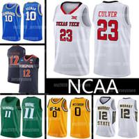 NCAA 23 Jarreys Culver Jerseys Texas Tech College 10 Dennis Rodman 12 de Andre Hunter 11 Irving LeBron 23 James Kyrie Westbrook Basketball