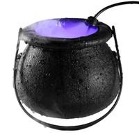 Lámpara de Halloween de la bruja de Halloween atomizador de la decoración del partido bruja bote esmerilado llevó máquina de la niebla iluminación de color cambiante atmósfera de niebla fabricante