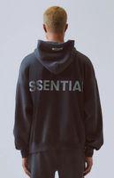 Delle donne degli uomini con cappuccio Essentials riflettente manica lunga Fleece Hoodie Moda Solid Size FOG cappuccio UE S-XL