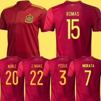 man + kids 2020 spain soccer jersey home 20 21 camiseta de f...