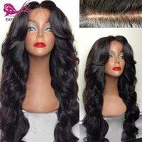 EAYON Vücut Dalga İpek Bankası Dantel Ön İnsan Saç Peruk Öncesi Mızraplı Brezilyalı Remy saç 5x4.5 İpek Üst Dantel Açık Peruk İçin Kadınlar