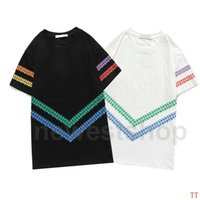new Summer Luxury Europe give mens tshirt Top quality letter print paris t shirts Fashion designer t shirt Women Street Casual tee t-shirt