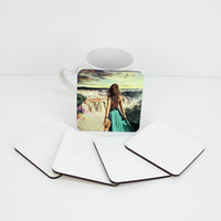 9 * 9cm Sublimation Coaster Isolierung Holz Blank Tischsets MDF Heat Transfer Cup Coaster Pads Kaffee Mat