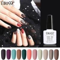 Gel per unghie Elite99 Colore opaco UV Polish UV 10ml Nero Pure Pure Soak Off Art Vernice Top Base Coat Semi Lacca permanente