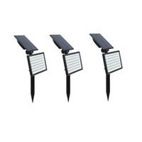 54LEDスーパーブライトソーラー芝生ランプランドスケープライト屋外太陽壁ランプ防水ホームヤード経路壁ランプIP65