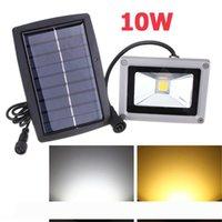 10W Solar Spotlight Lâmpada LED Projector impermeável ao ar livre Flood Luz Quintal gramado Luz Lâmpada de parede Decoração Luz