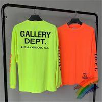 2020fwss футболки Мужчины Женщины 1 Высокое качество Негабаритные люминесцентная с длинным рукавом Футболка