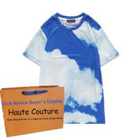 Manica corta 20ss cloud per la Mens High End Ragazzi Top T casuali di stampa di Hiphop magliette per Whoelsale Asiatica Misura M-2XL