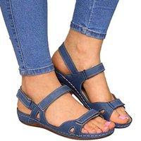 Женщины кожзаменителя Rhinestone Toe Ring Slingback Нарядный Сандал Strappy Плоский Гладиатор сандалии римских обувь