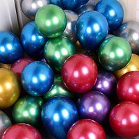50pcs / bag multi-formato Decorazione di nuovo Shinny metallo perla Latex Balloon Spesso cromo metallico di colore gonfiabile palloncini matrimonio festa di compleanno