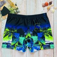 Boxer Uomo Costumi da bagno Costumi uomo di Stampa Hot Spring Beach Pants uomini di modo Swimwear traspiranti attivi Calzoncini 6 colori