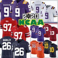 9 Joe Burrow LSU Tiger Jersey 2020 NCAA Clemson Tiger 16 Trevor Lawrence Jr. Travis Etienne 26 Saquon Barkley 97 Nick Bosa Haskins Jr 01