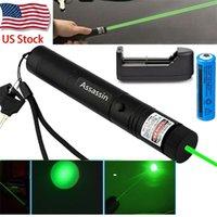 Astronomia insegnamento di messa a fuoco che brucia potente laser di verde della penna del 1mw 532nm Visibile fascio Cat Toy Military Green laser + 18650 Battery +