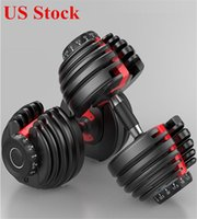 الولايات المتحدة الأسهم الوزن قابل للتعديل الدمبل 5-52.5lbs اللياقة البدنية التدريبات الدمبل لهجة قوة عضلات الحديد معدات اللياقة الرياضية