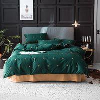 Set di biancheria da letto 50 100% cotone di lusso copripiumino King Queen Size Quilt Breve Bedclothes Comforter Bed Set