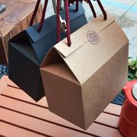 4 цвета Kraft Party Paper / Wedding подарочные пакеты, Cake / Шоколад / Конфеты Упаковка Мешки Встаньте Пищевые бумажные коробки