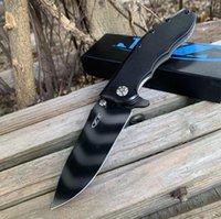 ZT 접는 칼 무관 용 0562 ZT0562 호랑이 패턴 CPM-20cv 접는 사냥 캠핑 나이프 크리스마스 선물 칼 kaidele