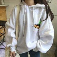 Fashion Moletom Female Autumn Winter Fleece Thick Hooded Sweatshirt For Women Clothes Korean Harajuku Funny Full Hoddies Tops CX200814