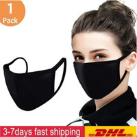 Bisiklet Kamp Seyahat% 100 Pamuk Yıkanabilir Tekrar Kullanılabilir Kumaş Maskeler Mzı Yeni Sıcak maskeler ABD Stok Ayarlanabilir Anti Toz Yüz Maskesi Siyah Pamuk