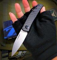 NOVO ZT Tolerância zero zt0235 0235 lâmina d2 fibra de carbono Folding caça campismo faca xmas faca presente facas A3090