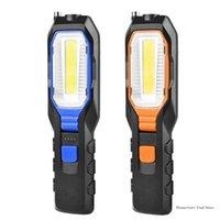 Lanternes portables COB LED Light USB Luminaires rechargeables Eclairage de l'inspection magnétique flexible Lampe de secours