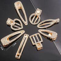 Rhinestones di cristallo di metallo clip di capelli con parole forcine per i capelli capelli donne morse donne accessori