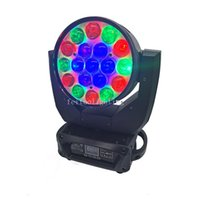 New Circle Controle Led Zoom Wash Moving Head Lyre 19 x 15W RGBW 4in1 levou movendo a cabeça de zoom Luz Para DJ Stage Disco