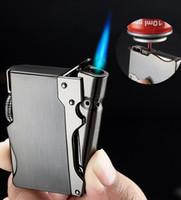 Focus Torch Gas accendisigari, metallo jet sigaro accendisigari, accendino a butano ricaricabile di lusso